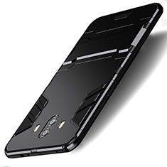 Funda Bumper Silicona y Plastico Mate con Soporte para Huawei Mate 10 Negro
