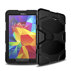 Funda Bumper Silicona y Plastico Mate con Soporte para Samsung Galaxy Tab A6 10.1 SM-T580 SM-T585 Negro