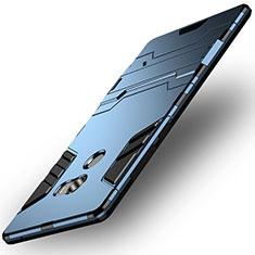 Funda Bumper Silicona y Plastico Mate con Soporte para Xiaomi Mi Mix 2 Azul