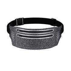 Funda Cinturon Brazo Correr Universal L07 para Nokia 3310 2017 Gris Oscuro