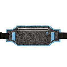 Funda Cinturon Brazo Correr Universal L08 para Nokia 3310 2017 Azul Cielo
