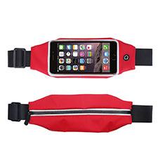 Funda Cinturon Brazo Correr Universal L10 para Nokia 3310 2017 Rojo