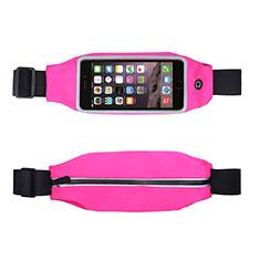 Funda Cinturon Brazo Correr Universal L10 para Nokia 3310 2017 Rosa Roja