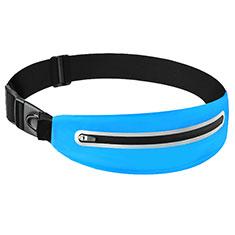 Funda Cinturon Brazo Correr Universal L11 para Nokia 3310 2017 Azul Cielo