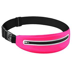 Funda Cinturon Brazo Correr Universal L11 para Nokia 3310 2017 Rosa Roja