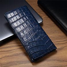 Funda de Cuero Cartera Carcasa T01 para Huawei Mate Xs 5G Azul