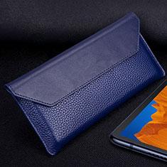 Funda de Cuero Cartera Carcasa T02 para Huawei Mate Xs 5G Azul