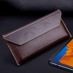 Funda de Cuero Cartera Carcasa T02 para Huawei Mate Xs 5G Marron