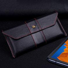 Funda de Cuero Cartera Carcasa T03 para Huawei Mate Xs 5G Negro