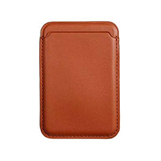Funda de Cuero Cartera con Mag-Safe Magnetic para Apple iPhone 12 Mini Marron