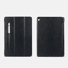Funda de Cuero Cartera con Pencil Holder Soporte Apple iPad Pro 10.5 Negro