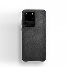 Funda de Cuero Cartera con Soporte Carcasa C01 para Samsung Galaxy S20 Ultra 5G Negro