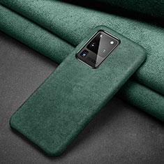 Funda de Cuero Cartera con Soporte Carcasa C02 para Samsung Galaxy S20 Ultra Verde