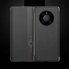Funda de Cuero Cartera con Soporte Carcasa F01 para Huawei Mate 40 Pro Negro