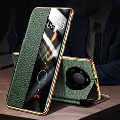 Funda de Cuero Cartera con Soporte Carcasa F02 para Huawei Mate 40 Pro+ Plus Verde