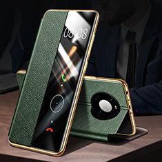 Funda de Cuero Cartera con Soporte Carcasa F02 para Huawei Mate 40 Pro Verde