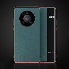 Funda de Cuero Cartera con Soporte Carcasa F03 para Huawei Mate 40 Cian