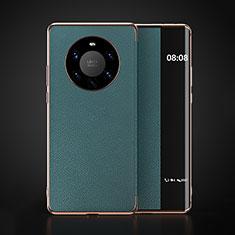 Funda de Cuero Cartera con Soporte Carcasa F03 para Huawei Mate 40 Pro+ Plus Cian