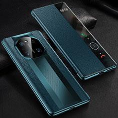 Funda de Cuero Cartera con Soporte Carcasa K01 para Huawei Mate 40 Pro Azul