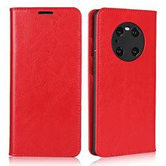 Funda de Cuero Cartera con Soporte Carcasa K02 para Huawei Mate 40 Pro Rojo