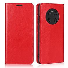 Funda de Cuero Cartera con Soporte Carcasa K02 para Huawei Mate 40 Rojo