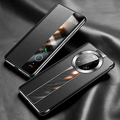 Funda de Cuero Cartera con Soporte Carcasa K05 para Huawei Mate 40 Pro Negro