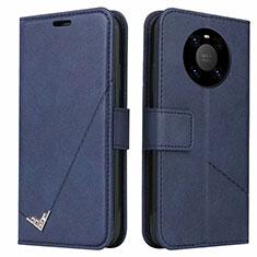 Funda de Cuero Cartera con Soporte Carcasa K06 para Huawei Mate 40 Pro Azul