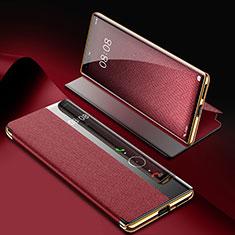 Funda de Cuero Cartera con Soporte Carcasa K07 para Huawei Mate 40 Pro Rojo Rosa