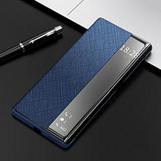 Funda de Cuero Cartera con Soporte Carcasa K08 para Huawei Mate 40 Pro Azul