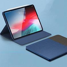 Funda de Cuero Cartera con Soporte Carcasa L01 para Apple iPad Pro 11 (2018) Azul