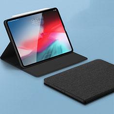 Funda de Cuero Cartera con Soporte Carcasa L01 para Apple iPad Pro 11 (2018) Negro