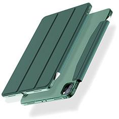 Funda de Cuero Cartera con Soporte Carcasa L01 para Apple iPad Pro 12.9 (2020) Verde
