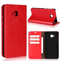 Funda de Cuero Cartera con Soporte Carcasa L01 para Asus Zenfone 4 Selfie Pro Rojo