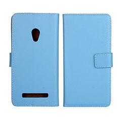 Funda de Cuero Cartera con Soporte Carcasa L01 para Asus Zenfone 5 Azul Cielo