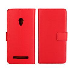 Funda de Cuero Cartera con Soporte Carcasa L01 para Asus Zenfone 5 Rojo