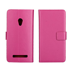 Funda de Cuero Cartera con Soporte Carcasa L01 para Asus Zenfone 5 Rosa Roja