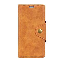 Funda de Cuero Cartera con Soporte Carcasa L01 para HTC Desire 12S Naranja