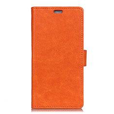 Funda de Cuero Cartera con Soporte Carcasa L01 para HTC U11 Eyes Naranja