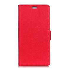 Funda de Cuero Cartera con Soporte Carcasa L01 para HTC U11 Eyes Rojo