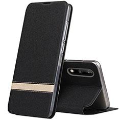 Funda de Cuero Cartera con Soporte Carcasa L01 para Huawei Enjoy 10 Negro