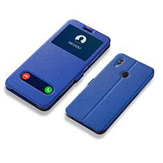 Funda de Cuero Cartera con Soporte Carcasa L01 para Huawei Honor 10 Lite Azul