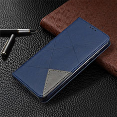 Funda de Cuero Cartera con Soporte Carcasa L01 para Huawei Honor 9A Azul