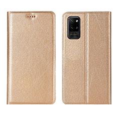 Funda de Cuero Cartera con Soporte Carcasa L01 para Huawei Honor Play4 Pro 5G Oro
