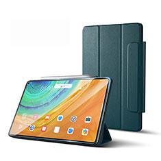 Funda de Cuero Cartera con Soporte Carcasa L01 para Huawei MatePad Pro 5G 10.8 Verde Noche