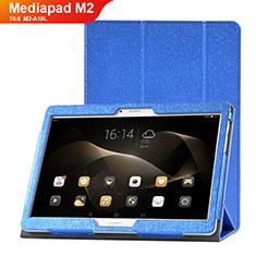 Funda de Cuero Cartera con Soporte Carcasa L01 para Huawei MediaPad M2 10.0 M2-A10L Azul