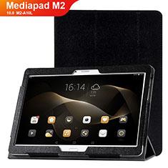 Funda de Cuero Cartera con Soporte Carcasa L01 para Huawei MediaPad M2 10.0 M2-A10L Negro