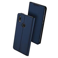 Funda de Cuero Cartera con Soporte Carcasa L01 para Huawei P Smart (2019) Azul