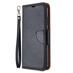 Funda de Cuero Cartera con Soporte Carcasa L01 para Huawei P40 Lite E Negro