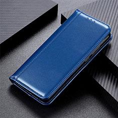 Funda de Cuero Cartera con Soporte Carcasa L01 para Huawei Y5p Azul