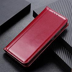 Funda de Cuero Cartera con Soporte Carcasa L01 para Huawei Y5p Rojo Rosa